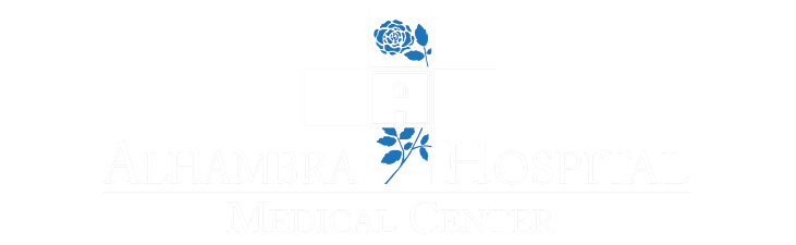 blue cross with text Alhambra Hospital Medical Center